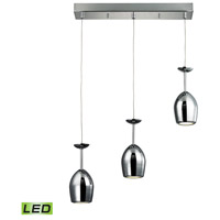 ELK Lighting Vasso Chromo 3 Light Pendant in Polished Chrome 17171/3