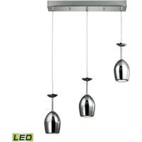 ELK 17171/3 Vasso Chromo LED 20 inch Polished Chrome Pendant Ceiling Light