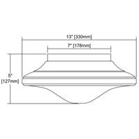 ELK 17230/2 Urbano 2 Light 13 inch Polished Chrome Flushmount Ceiling Light