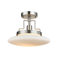 ELK Lighting Anza 1 Light Semi Flush in Brushed Nickel 17248/1