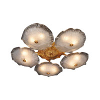 ELK Lighting Girona 10 Light Semi-Flush Mount in Silver Leaf 1724/10