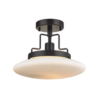 Anza 1 Light 12 inch Oil Rubbed Bronze Semi Flush Ceiling Light