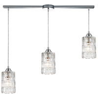 ELK 17414/3L Ezra 3 Light 36 inch Polished Chrome Pendant Ceiling Light in Linear with Recessed Adapter