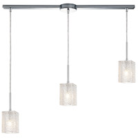 ELK 17434/3L Ezra 3 Light 36 inch Polished Chrome Pendant Ceiling Light in Linear with Recessed Adapter