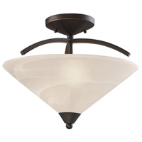 Elysburg 2 Light 16 inch Oil Rubbed Bronze Semi Flush Ceiling Light