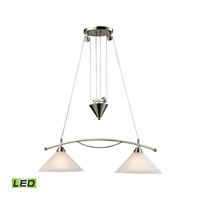 Elysburg LED 31 inch Satin Nickel Island Ceiling Light