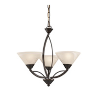 Signature 3 Light 20 inch Oil Rubbed Bronze Chandelier Ceiling Light