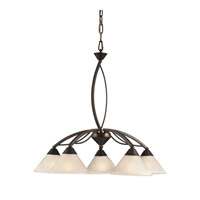 ELK 17646/5 Signature 5 Light 25 inch Oil Rubbed Bronze Chandelier Ceiling Light