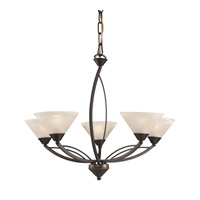 Signature 5 Light 28 inch Oil Rubbed Bronze Chandelier Ceiling Light