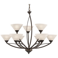 Signature 9 Light 34 inch Oil Rubbed Bronze Chandelier Ceiling Light