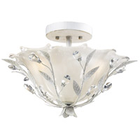 Circeo 2 Light 17 inch Antique White Semi-Flush Mount Ceiling Light