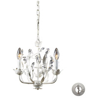 ELK 18112/3-LA Circeo 3 Light 11 inch Antique White Chandelier Ceiling Light in Recessed Adapter Kit