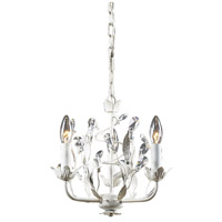 ELK 18112/3 Circeo 3 Light 11 inch Antique White Chandelier Ceiling Light in Triangular Canopy