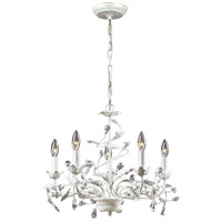 ELK 18113/5 Circeo 5 Light 21 inch Antique White Chandelier Ceiling Light photo thumbnail