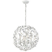 Circeo 4 Light 19 inch Antique White Pendant Ceiling Light