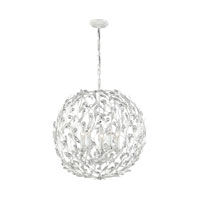 Circeo 5 Light 24 inch Antique White Pendant Ceiling Light