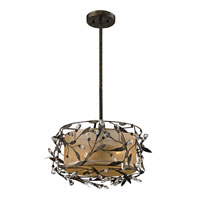ELK Lighting Circeo 2 Light Semi-Flush Mount in Deep Rust 18131/2