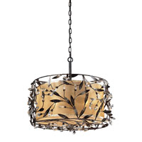 ELK Lighting Circeo 3 Light Pendant in Deep Rust 18132/3 photo thumbnail