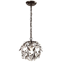 Circeo 1 Light 10 inch Deep Rust Pendant Ceiling Light