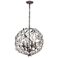ELK Lighting Circeo 4 Light Pendant in Deep Rust 18134/4