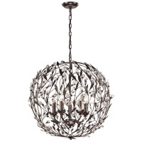 Circeo 5 Light 24 inch Deep Rust Pendant Ceiling Light