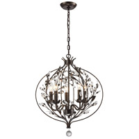 Circeo 5 Light 20 inch Deep Rust Chandelier Ceiling Light