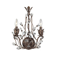 Sagemore 2 Light 12 inch Bronze Rust Wall Sconce Wall Light