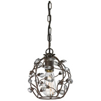 Sagemore 1 Light 8 inch Bronze Rust Pendant Ceiling Light
