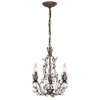 ELK Lighting Sagemore 3 Light Chandelier in Bronze Rust 18142/3