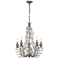 Sagemore 5 Light 22 inch Bronze Rust Chandelier Ceiling Light
