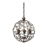 Sagemore 3 Light 15 inch Bronze Rust Pendant Ceiling Light