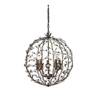 ELK Lighting Sagemore 5 Light Pendant in Bronze Rust 18145/5