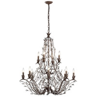 Sagemore 12 Light 37 inch Bronze Rust Chandelier Ceiling Light