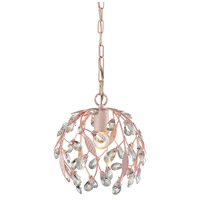 ELK 18150/1 Circeo 1 Light 10 inch Light Pink Pendant Ceiling Light