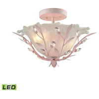 Circeo LED 17 inch Light Pink Semi Flush Mount Ceiling Light
