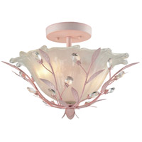 Circeo 2 Light 17 inch Light Pink Semi Flush Mount Ceiling Light in Standard