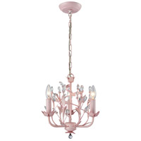 Circeo 3 Light 13 inch Light Pink Chandelier Ceiling Light