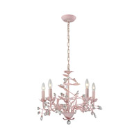 Circeo 5 Light 21 inch Light Pink Chandelier Ceiling Light