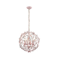 Circeo 4 Light 19 inch Light Pink Chandelier Ceiling Light