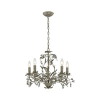 Circeo 5 Light 21 inch Marble Gray Chandelier Ceiling Light