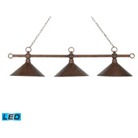Designer Classics LED 58 inch Antique Copper Billiard/Island Ceiling Light