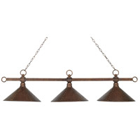 Designer Classics 3 Light 58 inch Antique Copper Billiard/Island Ceiling Light in Standard