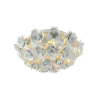 Elk Lighting Bouquet 2 Light Flush Mount in Matte White 18203/2
