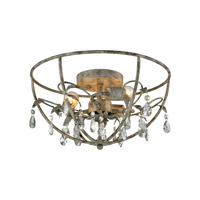 Bridget 3 Light 17 inch Marble Gray Semi Flush Mount Ceiling Light