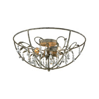 Bridget 3 Light 23 inch Marble Gray Semi Flush Mount Ceiling Light
