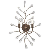 Crislett 2 Light 18 inch Sunglow Bronze Wall Sconce Wall Light