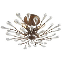 ELK 18241/4 Crislett 4 Light 22 inch Sunglow Bronze Semi Flush Mount Ceiling Light