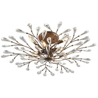ELK 18242/8 Crislett 8 Light 32 inch Sunglow Bronze Semi Flush Mount Ceiling Light
