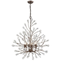 Crislett 6 Light 31 inch Sunglow Bronze Chandelier Ceiling Light