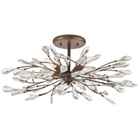 Crislett 4 Light 28 inch Sunglow Bronze Semi Flush Mount Ceiling Light